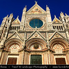 Italy - Tuscany - Toscana - Siena - UNESCO World Heritage Site - Siena's cathedral - Duomo - Great example of Italian Romanesque-Gothic architecture