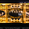 Italy - Tuscany - Toscana - Florence - Firenze - UNESCO World Heritage Site - Famous for its history - Centre of medieval European trade & finance & one of the wealthiest cities of the time - Birthplace of the Renaissance - City Scape along River Arno at Night