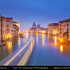 Europe - Italy - Italia - Veneto - Venice - Venezia - UNESCO World Heritage Site - Grand Canal - Canal Grande - Canałasso - One of the major water-traffic corridors in the city & Basilica di Santa Maria della Salute - The Basilica of St Mary of Health