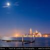 Europe - Italy - Italia - Veneto - Venice - Venezia - UNESCO World Heritage Site - View towards San Giorgio Maggiore Church and Monastery across the lagoon