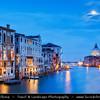 Europe - Italy - Italia - Veneto - Venice - Venezia - UNESCO World Heritage Site - Grand Canal - Canal Grande - Canałasso - One of the major water-traffic corridors in the city & Basilica di Santa Maria della Salute - The Basilica of St Mary of Health