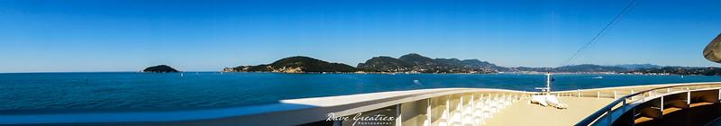 Sailing into La Spezia