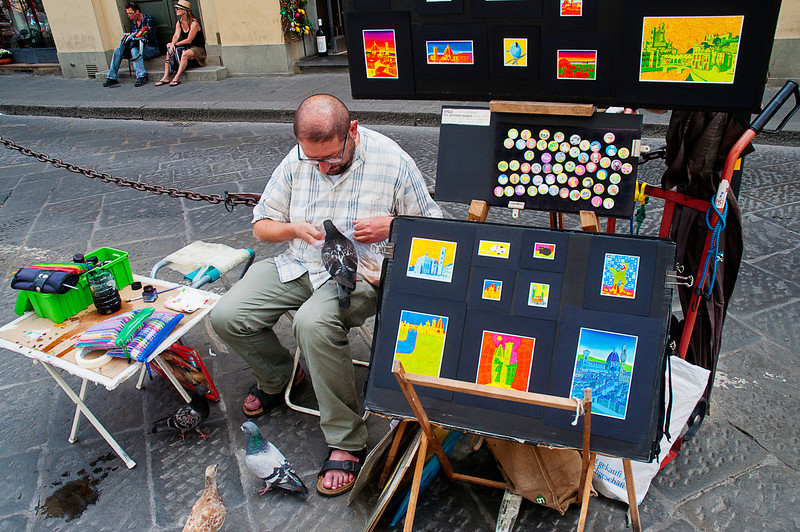 Street artists and pigeons: a match made in heaven