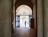 Entrance to the Cloister past the Museo dell'Opera di Santa Croce  to the left in the old refectory