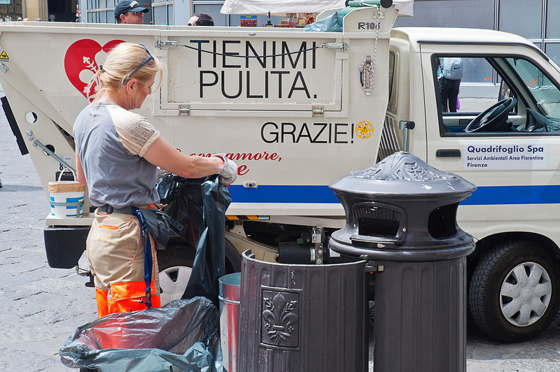 In Florence, even the street cleaners are beautiful.