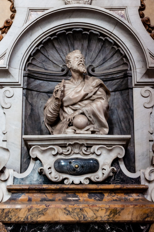 Tomb of Galileo in Santa Croce in Florence, Italy