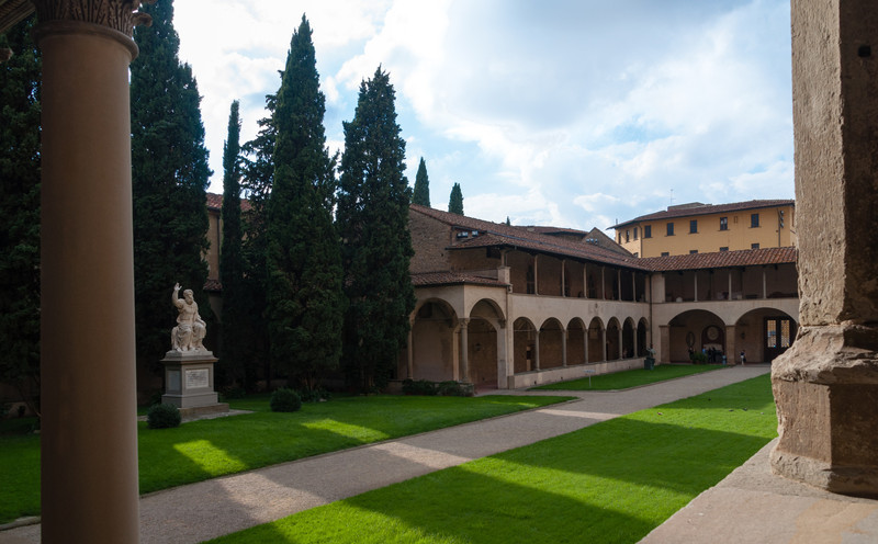 The Cloisters of Santa Croce in Florence, Italy
