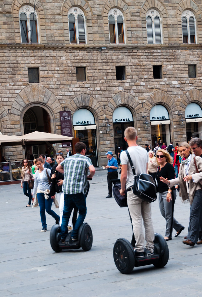 Dorkiness is not limited to DC tourists.  Segways in Florence, Italy