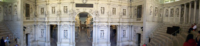 An in-camera composed panorama of the stage of Palladio's theater in Vicenza, Italy.