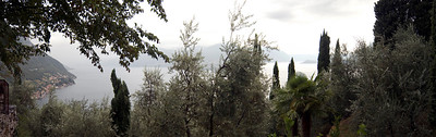 Another panoramic view of Lake Como, Italy taken near the castle ruins in Varrena, Italy.