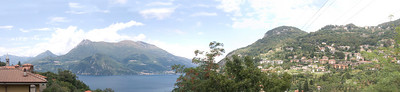 A panorama of Lake Como, Italy, to prove that the sun does shine there.