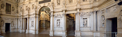 The stage of Palladio's theater in Vicenza, Italy.