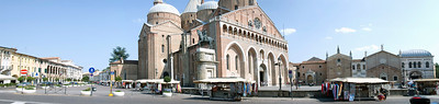 Panorama of the square in front of St. Anthony's Church in Padua