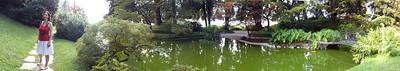 Japanese Garden at a villa in Bellagio, Lake Como, Italy