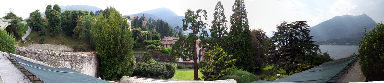 Another panorama from the gardens of a villa in Bellagio, Italy.