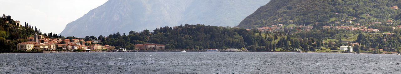 A view from Lake Como of Bellagio, Italy
