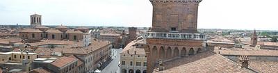 Another panorama of Ferrara, Italy