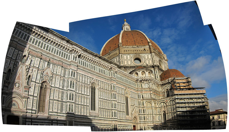 Though not as large as St. Peter's, this panorama tries to capture the incredible size of the Duomo in Florence.