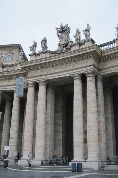 One of the entrances to Piazza San Pietro (St. Peter's Square) in Vatican City.
