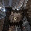 looking up at Bernini's baldacchino