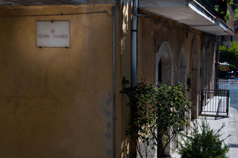 P. Coglianese Street in Oliveto Citra, Italy