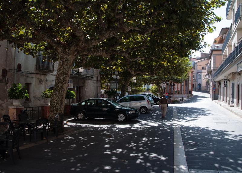 Main Square in Oliveto Citra, Italy