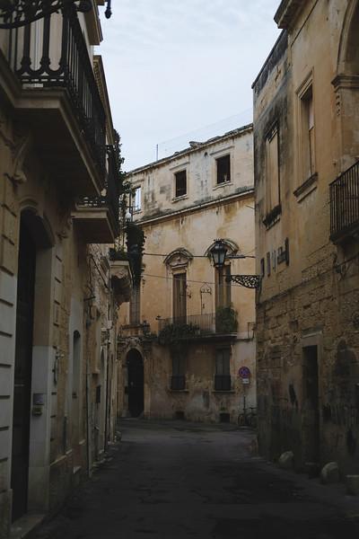Streets of Lecce's center. Puglia, 2019