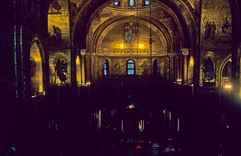 Officially the Basilica Cattedrale Patriarcale di San Marco, it is commonly known as Saint Mark's Basilica and nicknamed locally Chiesa d'Oro (Church of gold), constructed from the 9th to the 11th century with additions in the 14th, 15th and 16th centuries