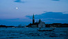 San Giorgio Maggiore from across the Ponte della Paglia in Venice at sunset