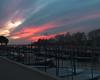 Burano marina sunset