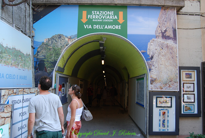 Tunnel to train station, Manarola, Cinque Terre, Italy