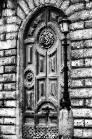 Antique Door #1b, Rome, Italy