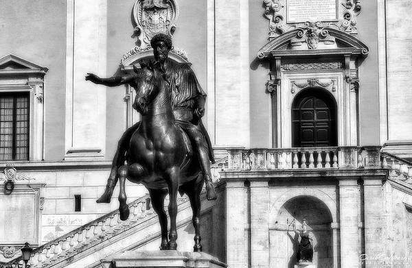 Vatican Exterior #3, Statue of Marcus Aurelius, Vatican City, Rome, Italy