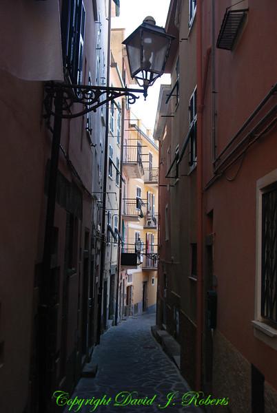 Walkway scene, Manarola, Cinque Terre, Italy