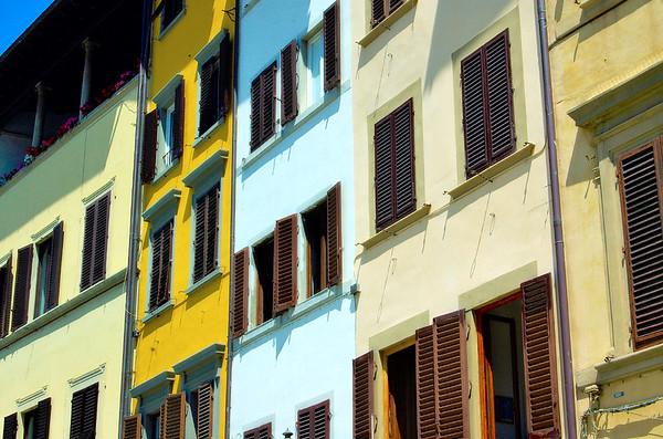 Colorful Bldg Facade #1, Florence, Italy