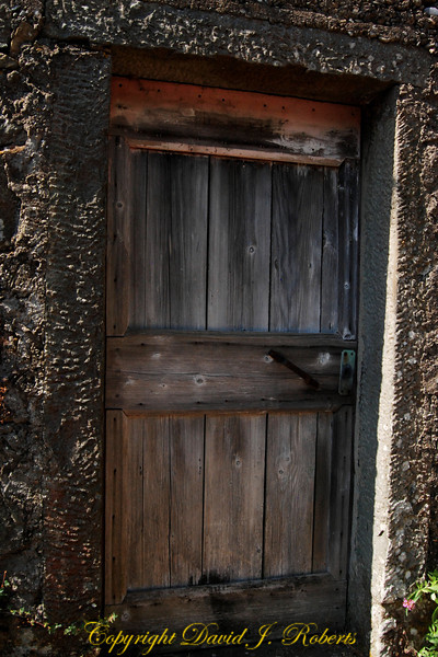 Doorway to small stone shed, Manarola, Cinque Terre, Italy