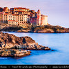 Italy - Liguria Coast - Riviera Ligure - Poets Gulf (Golfo dei Poeti) - Tellaro - Wonderful Traditional Village on shores of Mediterranean sea