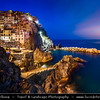 Italy - Liguria Coast - Riviera Ligure - Cinque Terre - UNESCO World Heritage Site - Manarola - One of the 5 villages dating from the early thirteenth century with tradition of fishing & wine-making