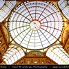 Italy - Lombardy - Milan - Milano - Galleria Vittorio Emanuele II - Premium Shopping - The structure is formed by two glass-vaulted arcades intersecting in an octagon covering the street connecting Piazza del Duomo to Piazza della Scala