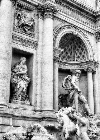 Trevi Fountain #4a, Rome, Italy