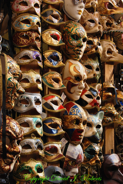 Masks in a market in Florence, Italy