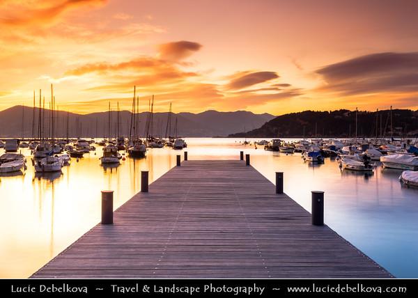 Italy - Liguria Coast - Riviera Ligure - Poets Gulf (Golfo dei Poeti) - Lerici - Largest village on the Gulf of Poets, sits across the bay from Portovenere