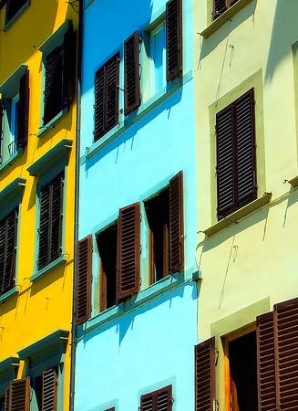 Colorful Bldg Facade #3, Florence, Italy