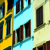 Colorful Bldg Facade #3, Florence, Italy