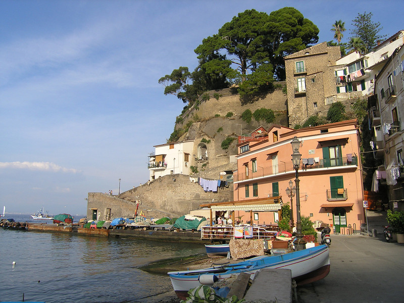 Sorrento, view from shore near hotel