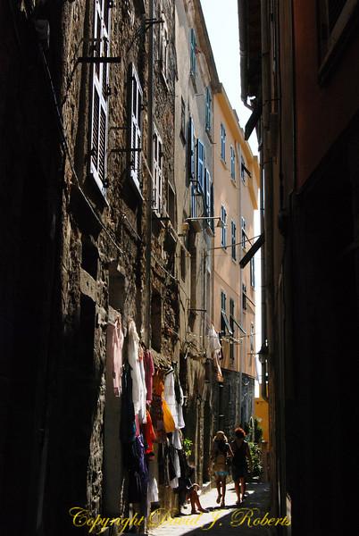 Street scene, Corniglia, Cinque Terre, Italy