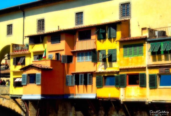 Windows on the Ponte Vecchio #2, Arno River, Florence, Italy