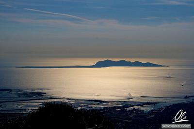 The golden island - Favignana from Erice