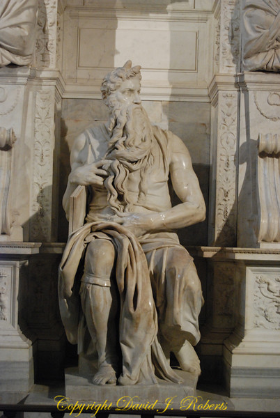 Carving of Moses by Michelangelo, Rome Italy