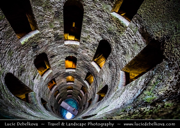 Europe - Italy - Italia - Umbria - Terni Province - Orvieto - Historical town located on flat summit of a large butte of volcanic tuff - Pozzo di San Patrizio - St. Patrick's Well - Historic well built for Popes